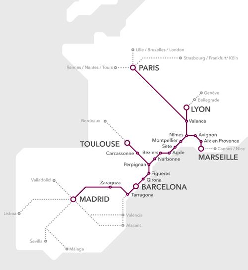 mapa tren